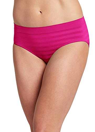 Jockey Women's Underwear Matte & Shine Seamfree Hipster, Fantasy Fuchsia, 7