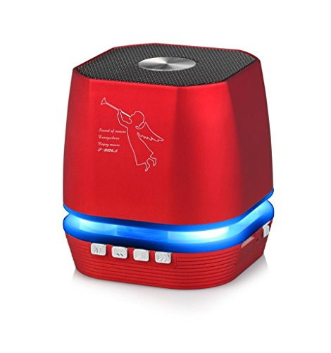 Lighting Wireless Bluetooth Speaker w/ FM Radio for Samsung Galaxy J7 Prime,Express Prime 2, J7 V, Xcover 4, J3 Emerge, On Nxt,A8, On8, On7 (2016),Z2 (Red) by MyNetDeals