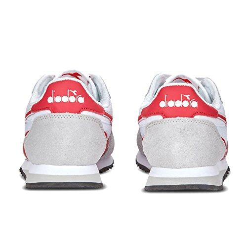 Malone Donna rosso Sneaker a Collo Diadora Flame Basso W C6470 Bianco ZqU4nxYd