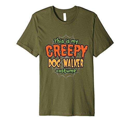 Mens Creepy Dog Walker Costume Premium Halloween T-Shirt