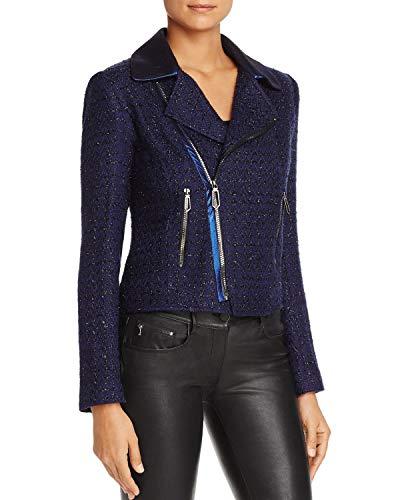 - T Tahari Women's Boucle Crystal Jacket, Navy XS