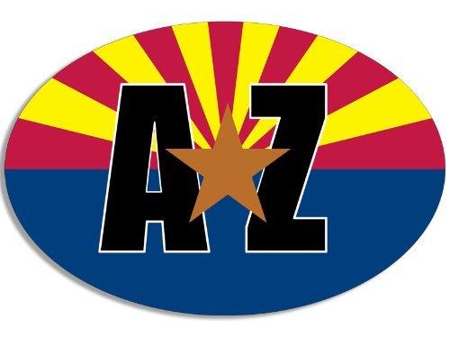 Oval AZ With Gold Star on Arizona Flag Sticker