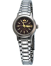 Orient FNQ05006H Women's 3 Star Stainless Steel Maroon Dial Automatic Watch