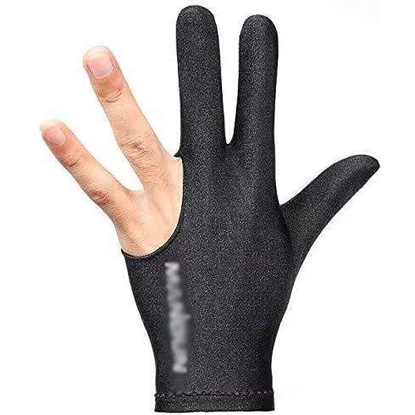 PROKTH Snooker Special Billiard Guantes de Tres Dedos Finger Glove ...