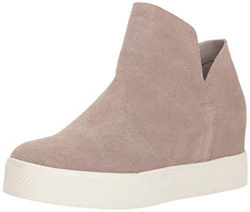 Steve Madden Women's Wrangle Sneaker, Taupe Suede, 9 M US