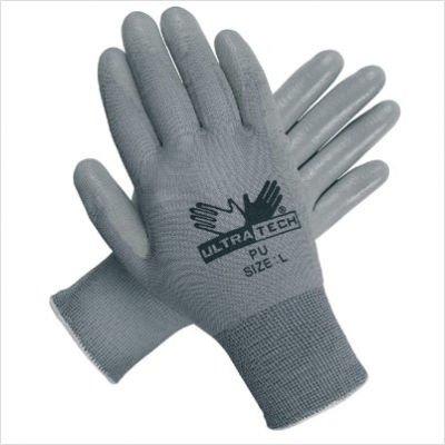 Memphis Glove 127-9696XL Ultra Tech Gray Pu Palmnylon 13 Gauge