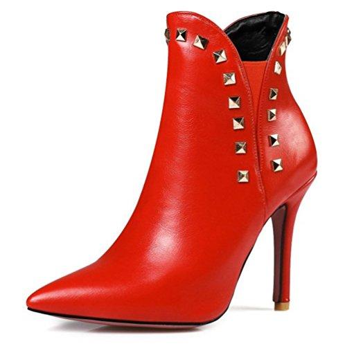 KUKI otoño botas botas de tacón alto botas botas baratas botas botas botas ocasionales red