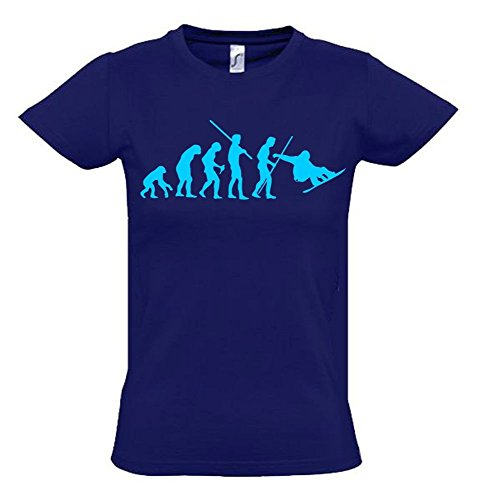 SNOWBOARD Evolution Kinder T-Shirt navy-sky, Gr.128cm