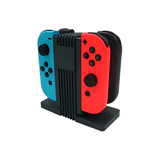 BORAZI Nintendo Switch Charge Dock For 4 Switch Joy-Con (Black color)