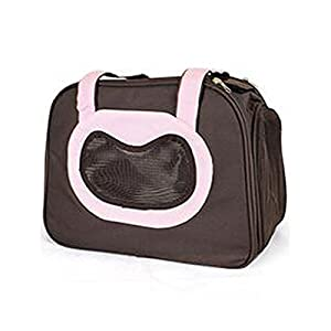 SRI Designs Travel Soft-Sided Pet Carrier | Ventilated, Comfortable Design with Safety Features (Pink)