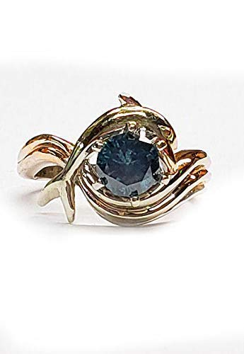 Diamond Dolphin Engagement Ring,