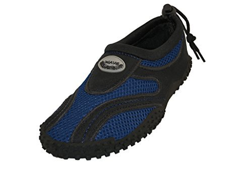 Wave Men's Waterproof Water Shoes, Black/Royal, 11 D(M) US