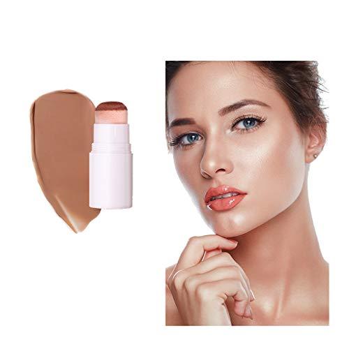 (Women Highlight Contour Stick Beauty Makeup Face Powder Cream Shimmer Concealer - Air Cushion Repairing Rod V Face Concealer Repairing Three-Dimensional Shadow High-Light Concealer)