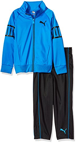 Puma Tricot Track Pant (PUMA Little Boys' Track Set, Black, 6)