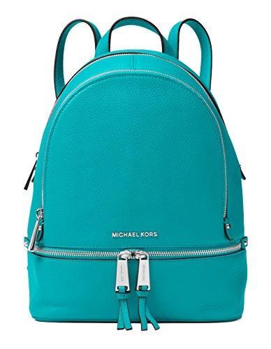 MICHAEL Michael Kors Rhea Zip Medium Backpack (Turquoise) by Michael Kors