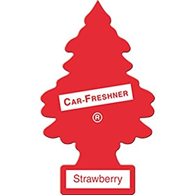 LITTLE TREES Car Air Freshener | Hanging Paper Tree for Home or Car | Strawberry | 6 Pack: Automotive