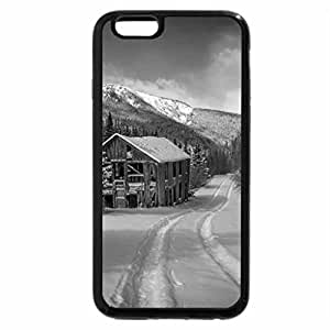 iPhone 6S Plus Case, iPhone 6 Plus Case (Black & White) - Winter cottage