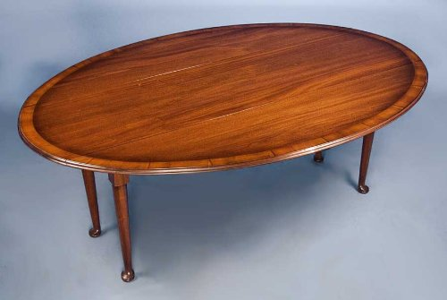 Christmas Tablescape Décor - Antique Style Mahogany Drop Leaf Dining Table by English Classics