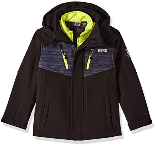 32 DEGREES Weatherproof Toddler' Weatherproof Little Boys Outerwear Jacket (More Styles Available), Classic Systems Black/Charcoal Heather Print, 3T]()