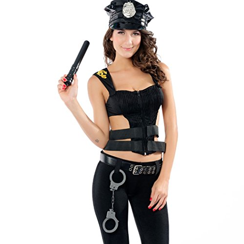 [Ladies Sexy Women's Policeman Uniform Halloween Fancy Dress Costume] (Policeman Uniform)