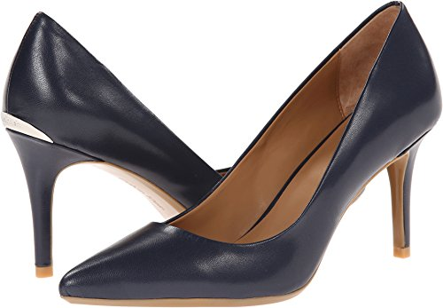 Calvin Klein Women's Gayle Navy 7.5 W (Navy Snake Leather Footwear)