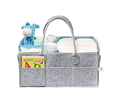 Lily and Oliver Baby Diaper Caddy - Diaper Storage - Portable Organizer Wipes and Toys Basket Boys and Girls - Car Travel Organizer - Registry - Newborn Changing Bag - Eco-Friendly