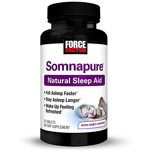 Somnapure natural Sleep Aid With melatonin, valerian, & chamomile, non-habit-forming Sleeping pill, fall asleep & Stay asleep, Force Factor, 60Count (Packaging May Vary) (7 Keys To Becoming A More Effective Manager)