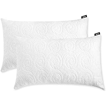 Allo Shredded Memory Foam Pillow King Size, Bed Pillows for Sleeping with Adjustable Loft Design Bamboo Pillows with Washable Breathable Zip Cover Hypoallergenic Cross-Cut Memory Foam Fill - 2 Pack