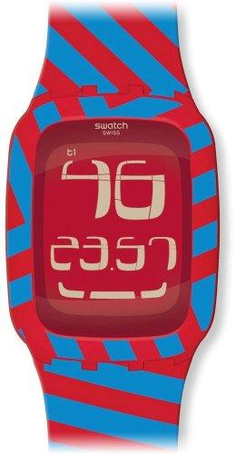 Swatch Quadri-Code Two-Tone Rubber Digital Ladies Watch SURR103