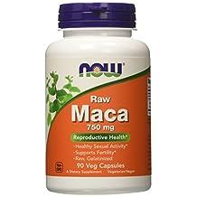 Now Foods Raw Maca 750 mg, 90 Veg Capsules