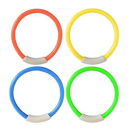 [해외]4 피스セットダイブリングスイミングプ?ルアクセサリ? 수영 보조 어린이 물놀이 다이빙 스포츠 여름 해변 장난감 (Color: yellow 및 blue 및 green & orange) / 4Pcs  Set Dive Ring Swimming Pool Accessories Swimming Aid Children`s Water Play ...