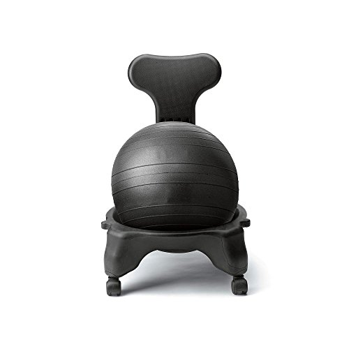 1UP Fit-Chair Balance Ball Chair Home & Office - Pump and Exercise Guide by 1UP