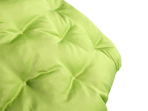 Meerweh Coussin de Palette avec Dossier, Dimensions d'environ 120 x 140 x 10 cm Europalette 20066, Vert/Beige
