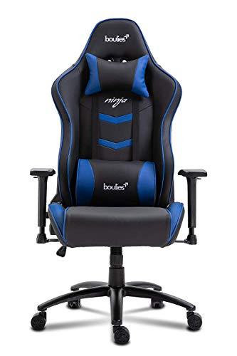boulies Ninja Gaming Chair Racing Style Ergonomic Office Chair E-Sports Chair Multi-Function Desk Chair Video Game Chair - Black & Blue boulies