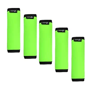 Cosmos ? 5 Pieces Fluorescence Green Comfort Neoprene Handle Wraps/Grip/Identifier for Travel Bag Luggage Suitcase