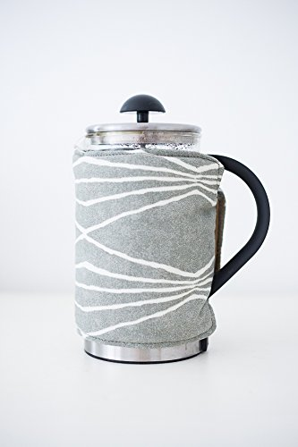 French Press Coffee Cover (8-cup, Linear Taupe) (Linear French Press)