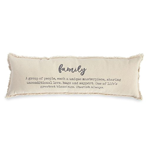 Decorative Pie - Mud Pie Family Definition Decorative Accent Pillow, One Size, Off White
