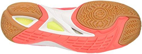 Mizuno Wave Mirage 2 Wos, Zapatillas de Running Para Mujer Multicolor (Fierycoral/safetyyellow/pinkglo 46)