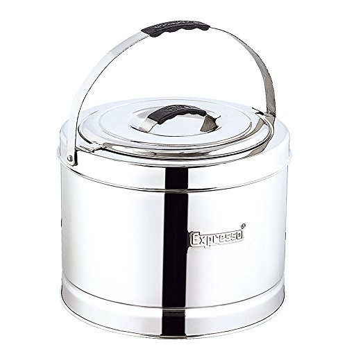 Expresso Stainless Steel Hot Pot Casserole with Lid and Handle, 7.5 Litre, Silver