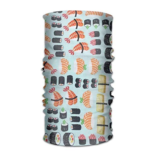 Funny Customize Head Scarf Fishes Sushi Daily Including Running Hiking Headband Multipurpose Face Mask Outdoor Hairwraps Head scarfs for Adults Teens -