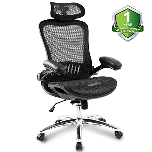 Merax Ergonomic Mesh Adjustable Home Desk Chair Office Chair Modern New Design Reclining ()