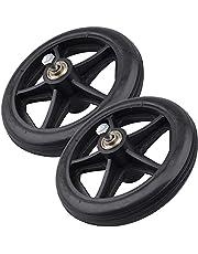 "EWONICE 6"" Walker Wheels 2Pack Solid Replacement Wheels for Rollators, Wheelchairs, Walkers"