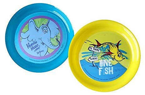 Dr. Seuss Lenticular Plastic Plates -Set of 2 (1) One Fish  sc 1 st  Amazon.com & Amazon.com: Dr. Seuss Lenticular Plastic Plates -Set of 2 (1) One ...