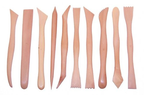 Set Of 10 Tiranti Hardwood Modelling Tools