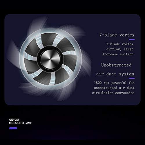 XProject L/áMpara Ultravioleta USB para Matar Mosquitos L/áMpara de Ahorro de Energ/íA Segura Ahorro de Energ/íA Eficiente Luz Fotocatal/íTica Anti Mosquitos Negro