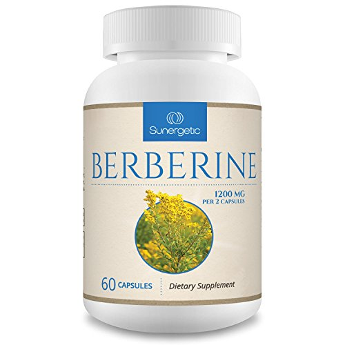 (Premium Berberine Supplement -1,200 mg of Berberine Per Serving - Non-GMO Berberine HCI Supplement- Powerful Berberine Health Formula - 60 Berberine Capsules)