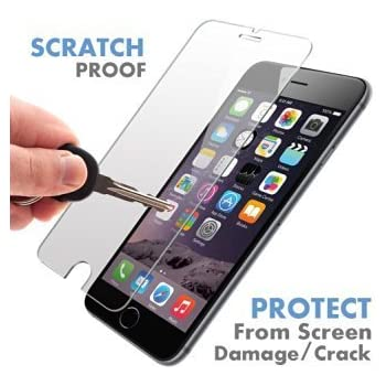 iPhone 6S / 6 ? PREMIUM QUALITY ? Tempered Glass Screen Protector by Voxkin - Top Quality Invisible Protective Glass for iPhone 6 - Scratch Free, Perfect Fit & Anti Fingerprint - Crystal Clear HD Display