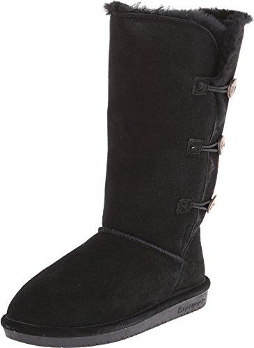 BEARPAW Women's Lauren Tall Winter Boot, Black II , 10 M US
