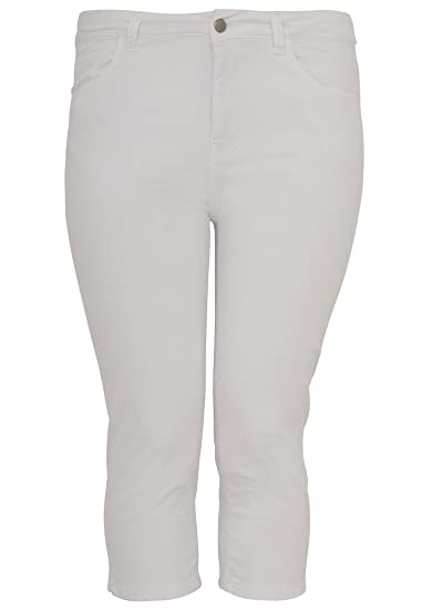9470ba691c3 Yoek Women s Plus Size Jeans Capri Curve  Amazon.co.uk  Clothing