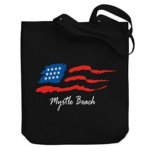 Valentine Herty Shopping bag Myrtle Beach USA Flag Canvas Tote - Beach Market Myrtle
